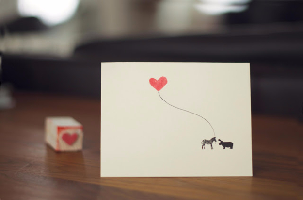 DIY Valentines Day Cards - DIY Valentine Stamps - Easy Handmade Cards for Him and Her, Kids, Freinds and Teens - Funny, Romantic, Printable Ideas for Making A Unique Homemade Valentine Card - Step by Step Tutorials and Instructions for Making Cute Valentine's Day Gifts #valentines
