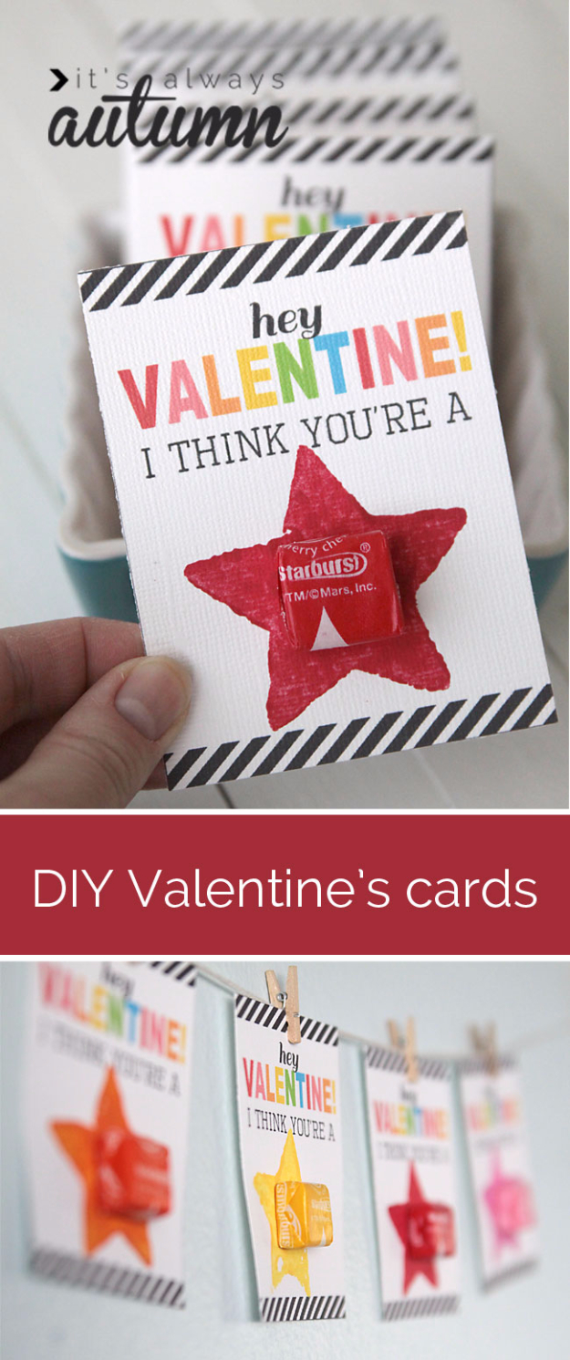 DIY Valentines Day Cards - DIY Valentine's Card To Make With Kids - Easy Handmade Cards for Him and Her, Kids, Freinds and Teens - Funny, Romantic, Printable Ideas for Making A Unique Homemade Valentine Card - Step by Step Tutorials and Instructions for Making Cute Valentine's Day Gifts #valentines