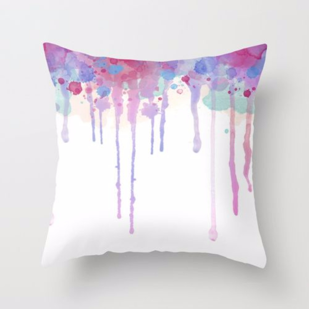 DIY Pillowcases - DIY Watercolor Pillowcase - Easy Sewing Projects for Pillows - Bedroom and Home Decor Ideas - Sewing Patterns and Tutorials - No Sew Ideas - DIY Projects and Crafts for Women #sewing #diydecor #pillows