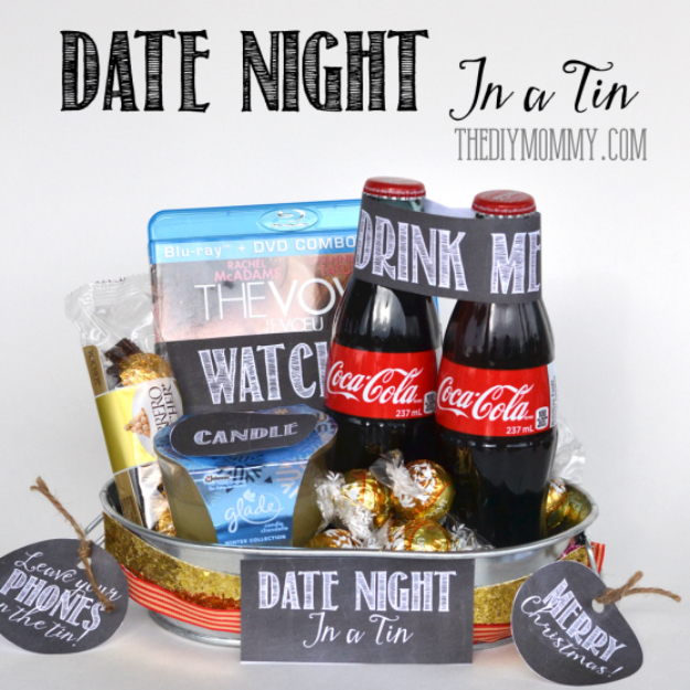 DIY Date Night Ideas - Date Night In A Tin - Creative Ways to Go On Inexpensive Dates - Creative Ways for Couples to Spend Time Together creative date nights diy idea
