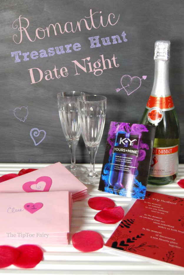 DIY Date Night Ideas - Date Night With A Romantic Treasure Hunt - Creative Ways to Go On Inexpensive Dates - Creative Ways for Couples to Spend Time Together creative date nights diy idea