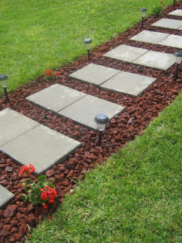 DIY Ideas for the Outdoors - Defined And Streamlined Walkway - Best Do It Yourself Ideas for Yard Projects, Camping, Patio and Spending Time in Garden and Outdoors - Step by Step Tutorials and Project Ideas for Backyard Fun, Cooking and Seating #diy