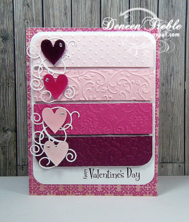 DIY Valentines Day Cards - Die Cut Valentine's Card - Easy Handmade Cards for Him and Her, Kids, Freinds and Teens - Funny, Romantic, Printable Ideas for Making A Unique Homemade Valentine Card - Step by Step Tutorials and Instructions for Making Cute Valentine's Day Gifts #valentines