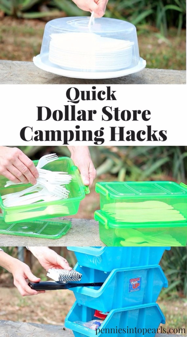 DIY Camping Hacks - Dollar Store Camping Hacks - Easy Tips and Tricks, Recipes for Camping - Gear Ideas, Cheap Camping Supplies, Tutorials for Making Quick Camping Food, Fire Starters, Gear Holders #diy #camping