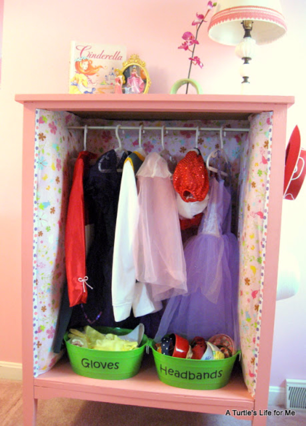 DIY Organizing Ideas for Kids Rooms - Dress Up Headquarters - Easy Storage Projects for Boy and Girl Room - Step by Step Tutorials to Get Toys, Books, Baby Gear, Games and Clothes Organized #diy #kids #organizing