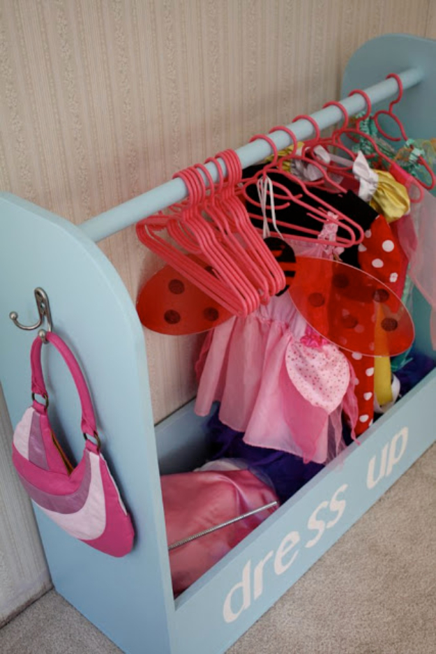 DIY Organizing Ideas for Kids Rooms - Dress Up Storage - Easy Storage Projects for Boy and Girl Room - Step by Step Tutorials to Get Toys, Books, Baby Gear, Games and Clothes Organized #diy #kids #organizing
