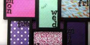 Watch How She Makes This Brilliant Dry Erase Picture Frame Calendar!