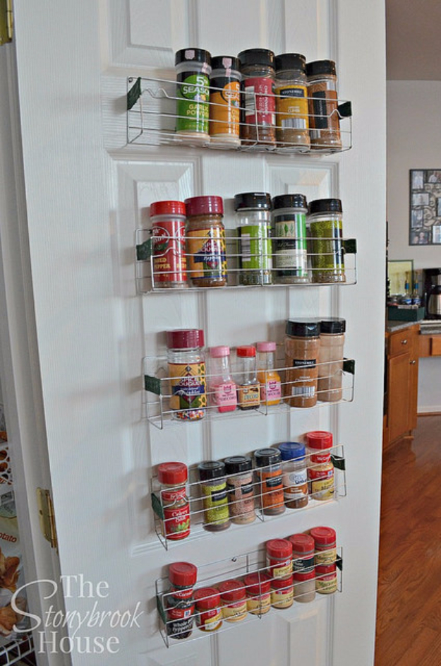 DIY Organizing Ideas for Kitchen - Easy $1 DIY Spice Racks - Cheap and Easy Ways to Get Your Kitchen Organized - Dollar Tree Crafts, Space Saving Ideas - Pantry, Spice Rack, Drawers and Shelving - Home Decor Projects for Men and Women #diykitchen #organizing #diyideas #diy