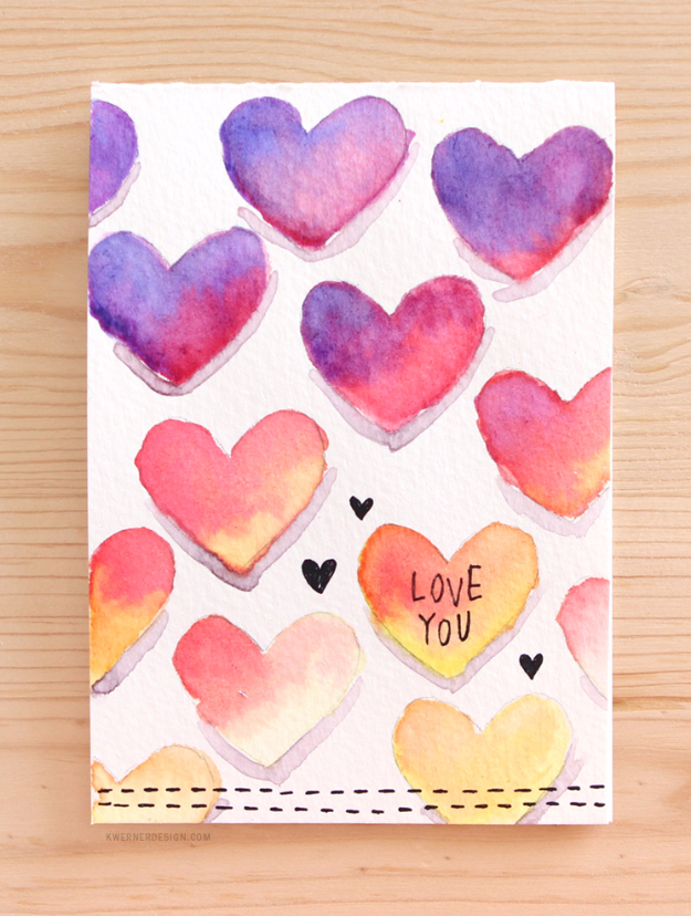 50 Thoughtful Handmade Valentines Cards DIY Joy – Cute Valentine Cards Homemade