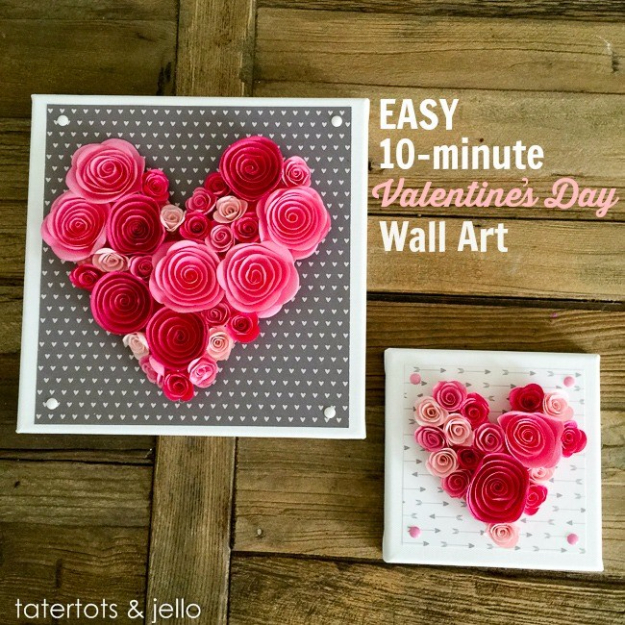 Best DIY Valentines Day Gifts - Easy Valentines Day Wall Art - Cute Mason Jar Valentines Day Gifts and Crafts for Him and Her | Boyfriend, Girlfriend, Mom and Dad, Husband or Wife, Friends - Easy DIY Ideas for Valentines Day for Homemade Gift Giving and Room Decor | Creative Home Decor and Craft Projects for Teens, Teenagers, Kids and Adults