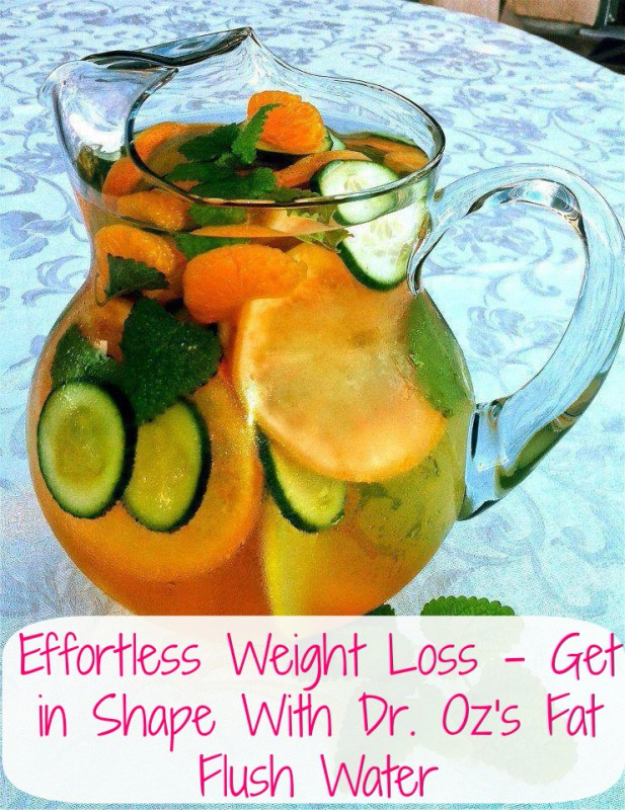 Best DIY Detox Waters and Recipes - Effortless Fat Flush Water - Homemade Detox Water Instructions and Tutorials - Lose Weight and Remove Toxins From the Body for Your New Years Resolutions - Easy and Quick Recipe Ideas for Getting Healthy in 2017 - DIY Projects and Crafts by DIY Joy