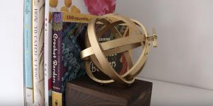 Watch How They Make This Super Cool Bookend Out Of Embroidery Hoops!