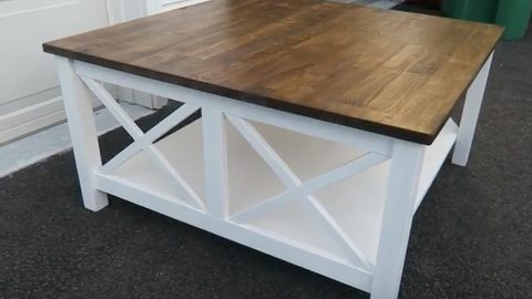 Watch How She Transforms This Coffee Table Into A Charming Farmhouse Table! | DIY Joy Projects and Crafts Ideas