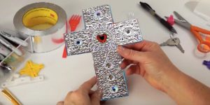 Watch How She Makes These Fabulous Crosses Using Foil Tape (Brilliant!)
