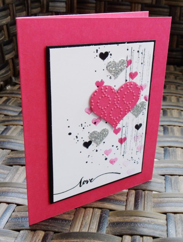 DIY Valentines Day Cards - Grunge Valentine's Card - Easy Handmade Cards for Him and Her, Kids, Freinds and Teens - Funny, Romantic, Printable Ideas for Making A Unique Homemade Valentine Card - Step by Step Tutorials and Instructions for Making Cute Valentine's Day Gifts #valentines