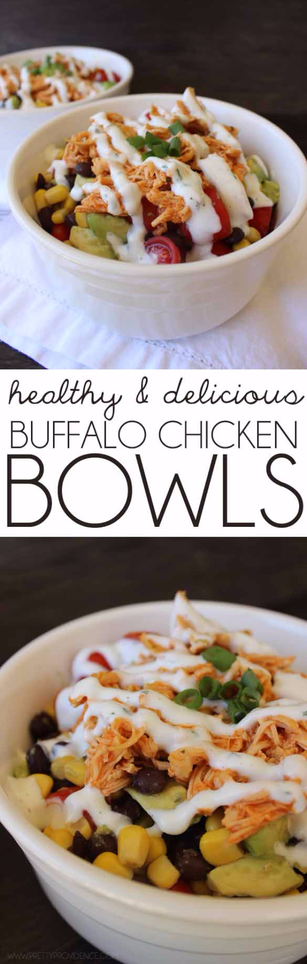 Healthy Lunch Ideas for Work - Healthy Buffalo Chicken Bowls - Quick and Easy Recipes You Can Pack for Lunches at the Office - Lowfat and Simple Ideas for Eating on the Job - Microwave, No Heat, Mason Jar Salads, Sandwiches, Wraps, Soups and Bowls