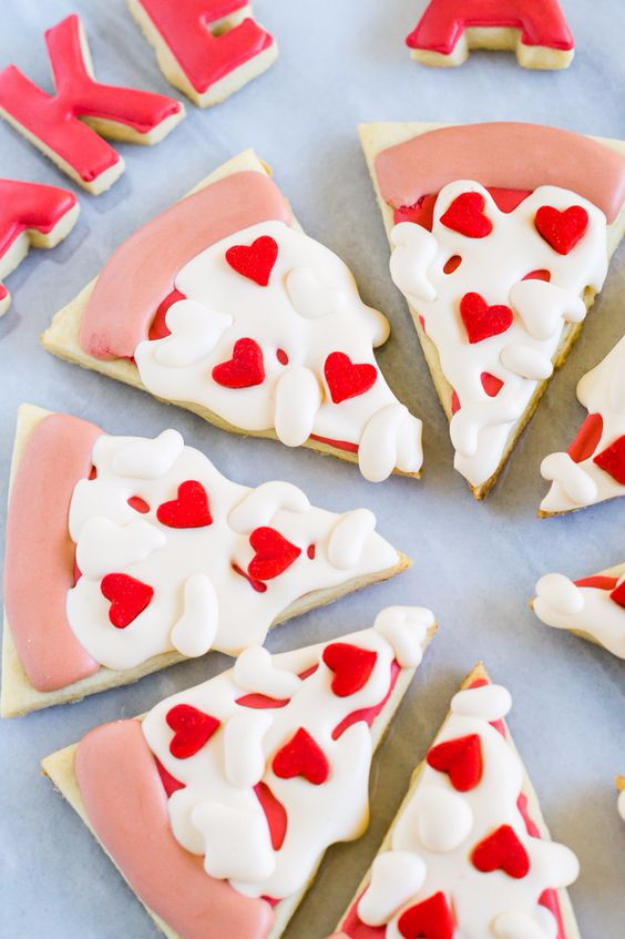 DIY Valentines Day Cookies   Heart Pizza Valentine Cookies   Easy Cookie  Recipes And Recipe Ideas