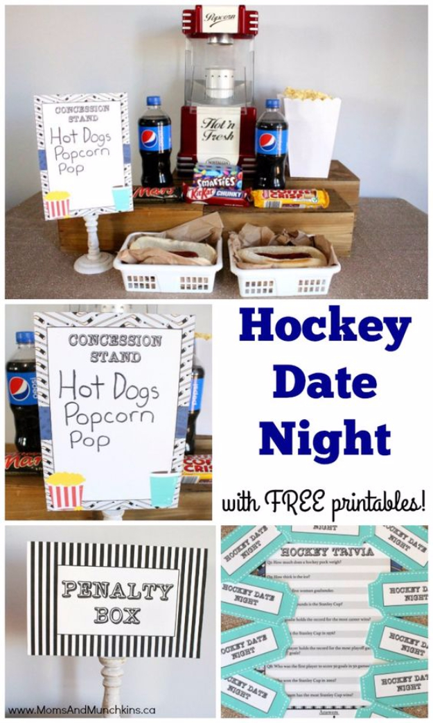 DIY Date Night Ideas - Hockey Date Night - Creative Ways to Go On Inexpensive Dates - Creative Ways for Couples to Spend Time Together - Cute Kits and Cool DIY Gift Ideas for Men and Women - Cheap Ways to Have Fun With Your Husbnad or Wife, Girlfriend or Boyfriend - Valentines Day Date Ideas http://diyjoy.com/diy-date-night-ideas