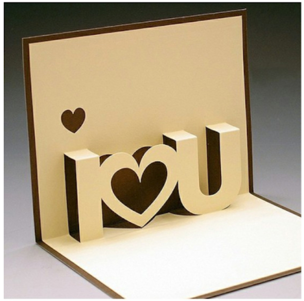 DIY Valentines Day Cards - I Love You Pop Up card - Easy Handmade Cards for Him and Her, Kids, Freinds and Teens - Funny, Romantic, Printable Ideas for Making A Unique Homemade Valentine Card - Step by Step Tutorials and Instructions for Making Cute Valentine's Day Gifts #valentines