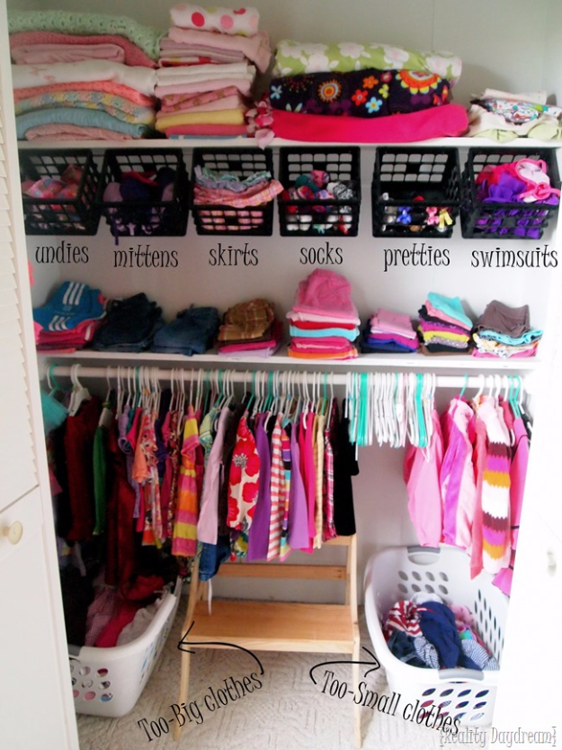 DIY Organizing Ideas for Kids Rooms - Kids And Nursery Closet Organization - Easy Storage Projects for Boy and Girl Room - Step by Step Tutorials to Get Toys, Books, Baby Gear, Games and Clothes Organized #diy #kids #organizing