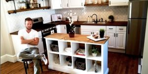 He Builds An Incredible Kitchen Island From An Ikea Shelving Unit  (Brilliant!)