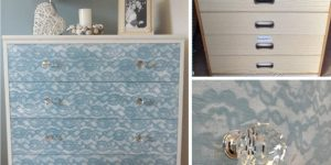 So Easy, So Feminine, So Beautiful Is This Lace Painted Dresser Transformation!