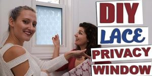 They Make A Lace Privacy Window And What They Do Is So Clever!