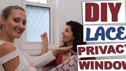 They Make A Lace Privacy Window And What They Do Is So Clever!   DIY Joy Projects and Crafts Ideas