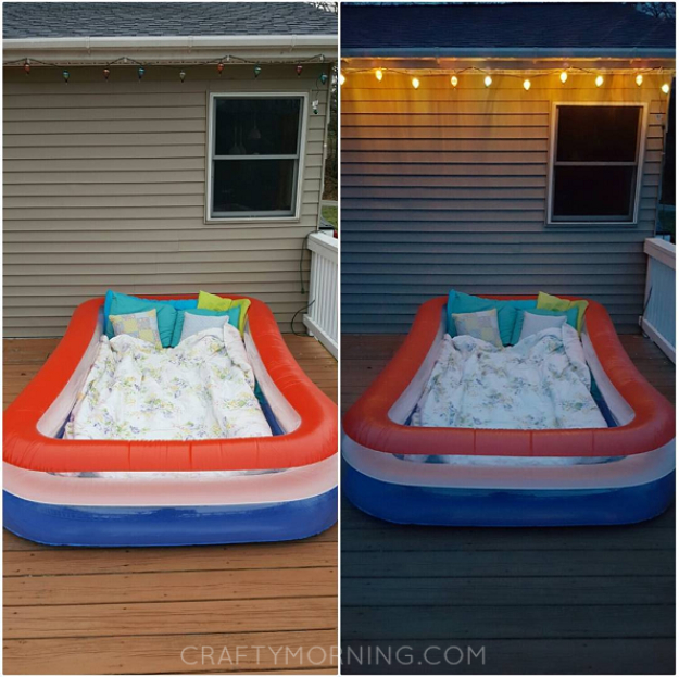 DIY Date Night Ideas - Lay Under The Stars In A Kiddie Pool - Creative Ways to Go On Inexpensive Dates - Creative Ways for Couples to Spend Time Together creative date nights diy idea