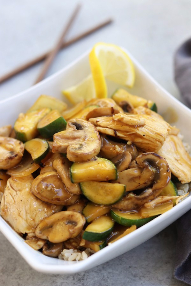 Quick and Healthy Dinner Recipes - Lemon Chicken Stir Fry - Easy and Fast Recipe Ideas for Dinners at Home - Chicken, Beef, Ground Meat, Pasta and Vegetarian Options - Cheap Dinner Ideas for Family, for Two , for Last Minute Cooking #recipes #healthyrecipes