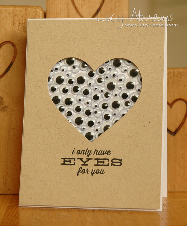DIY Valentines Day Cards - Lots Of Eyes Valentine's Card - Easy Handmade Cards for Him and Her, Kids, Freinds and Teens - Funny, Romantic, Printable Ideas for Making A Unique Homemade Valentine Card - Step by Step Tutorials and Instructions for Making Cute Valentine's Day Gifts #valentines