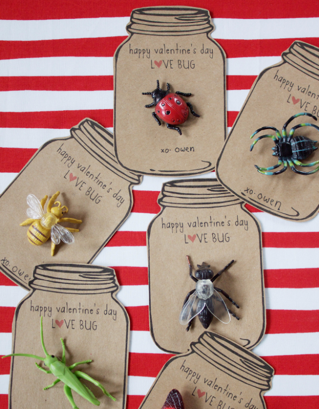 DIY Valentine Decor Ideas - Love Bug Valentines - Cute and Easy Home Decor Projects for Valentines Day Decorating - Best Homemade Valentine Decorations for Home, Tables and Party, Kids and Outdoor - Romantic Vintage Ideas - Cheap Dollar Store and Dollar Tree Crafts