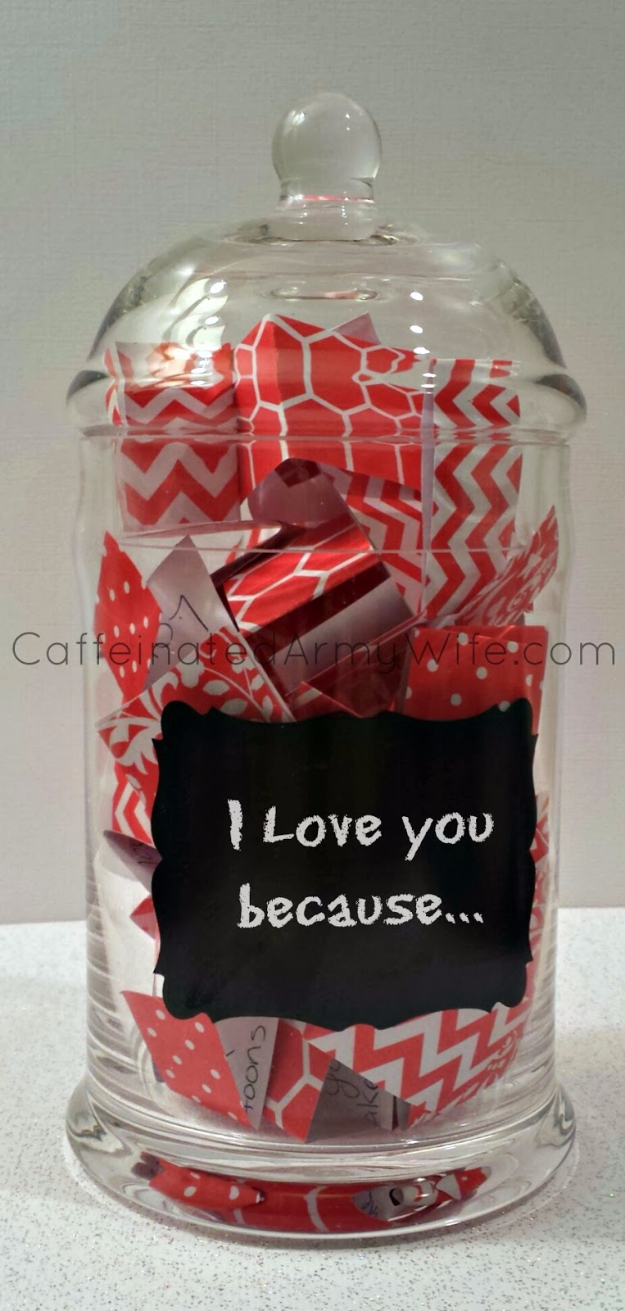Best DIY Valentines Day Gifts - Love Notes Jar for Valentine's Day - Cute Mason Jar Valentines Day Gifts and Crafts for Him and Her | Boyfriend, Girlfriend, Mom and Dad, Husband or Wife, Friends - Easy DIY Ideas for Valentines Day for Homemade Gift Giving and Room Decor | Creative Home Decor and Craft Projects for Teens, Teenagers, Kids and Adults