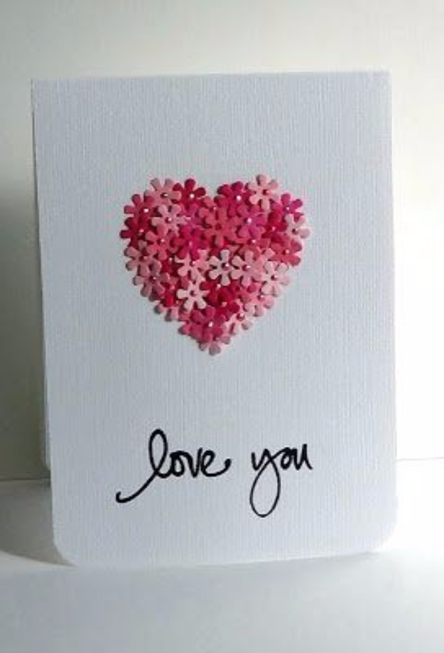 DIY Valentines Day Cards - Love You Card - Easy Handmade Cards for Him and Her, Kids, Freinds and Teens - Funny, Romantic, Printable Ideas for Making A Unique Homemade Valentine Card - Step by Step Tutorials and Instructions for Making Cute Valentine's Day Gifts #valentines