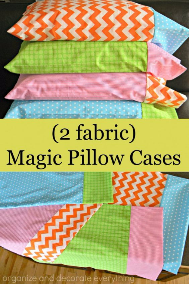 DIY Pillowcases - Magic Pillowcase - Easy Sewing Projects for Pillows - Bedroom and Home Decor Ideas - Sewing Patterns and Tutorials - No Sew Ideas - DIY Projects and Crafts for Women #sewing #diydecor #pillows
