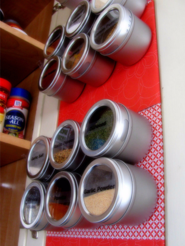 Magnetic Spice Rack OrganizatBest Organizing Ideas for the New Year - Magnetic Spice Rack Organization - Resolutions for Getting Organized - DIY Organizing Projects for Home, Bedroom, Closet, Bath and Kitchen - Easy Ways to Organize Shoes, Clutter, Desk and Closets - DIY Projects and Crafts for Women and Men