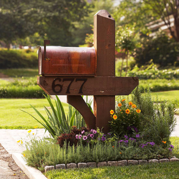 DIY Ideas for the Outdoors - Mailbox Garden - Best Do It Yourself Ideas for Yard Projects, Camping, Patio and Spending Time in Garden and Outdoors - Step by Step Tutorials and Project Ideas for Backyard Fun, Cooking and Seating #diy