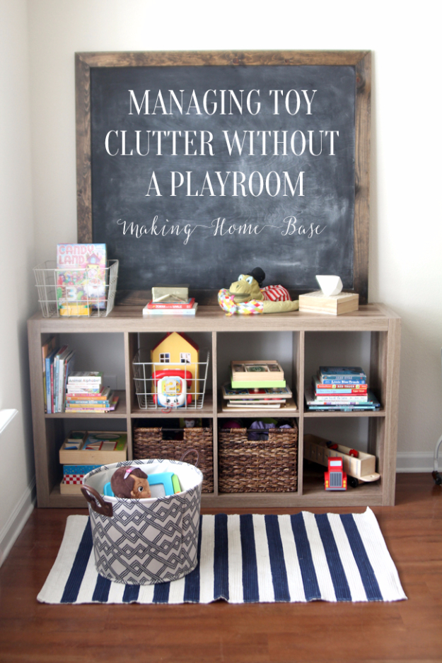 DIY Organizing Ideas for Kids Rooms - Manage Toys Without A Playroom - Easy Storage Projects for Boy and Girl Room - Step by Step Tutorials to Get Toys, Books, Baby Gear, Games and Clothes Organized - Quick and Cheap Shelving, Tables, Toy Boxes, Closet Tips, Bookcases and Dressers - DIY Projects and Crafts http://diyjoy.com/diy-organizing-ideas-kids-rooms