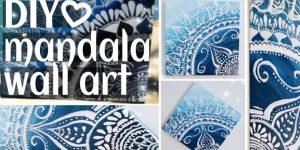 She Shows Us Step By Step How To Paint This Awesome Mandala On Canvas (Watch!)