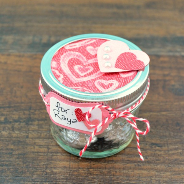 Best DIY Valentines Day Gifts - Mason Jar Valentine Gift - Cute Mason Jar Valentines Day Gifts and Crafts for Him and Her | Boyfriend, Girlfriend, Mom and Dad, Husband or Wife, Friends - Easy DIY Ideas for Valentines Day for Homemade Gift Giving and Room Decor | Creative Home Decor and Craft Projects for Teens, Teenagers, Kids and Adults http://diyjoy.com/diy-valentines-day-gift-ideas