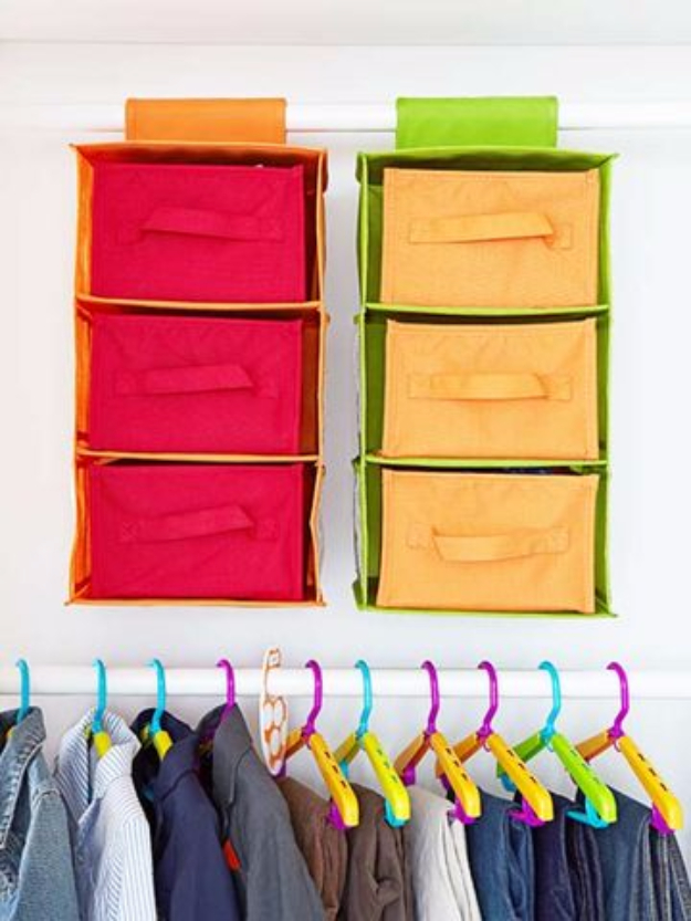 DIY Organizing Ideas for Kids Rooms - Maximize Space - Easy Storage Projects for Boy and Girl Room - Step by Step Tutorials to Get Toys, Books, Baby Gear, Games and Clothes Organized #diy #kids #organizing