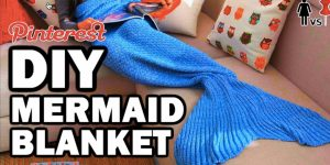 Watch How She Makes A Mermaid Blanket Out Of Blankets From The Thrift Store!