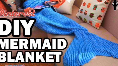 Watch How She Makes A Mermaid Blanket Out Of Blankets From The Thrift Store! | DIY Joy Projects and Crafts Ideas