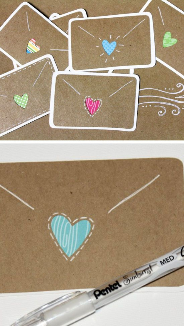 DIY Valentines Day Cards - Mini Love Notes Card - Easy Handmade Cards for Him and Her, Kids, Freinds and Teens - Funny, Romantic, Printable Ideas for Making A Unique Homemade Valentine Card - Step by Step Tutorials and Instructions for Making Cute Valentine's Day Gifts #valentines