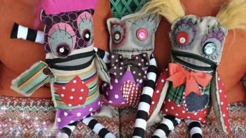 Make These Fun And Quirky Monster Dolls Out Of Your Leftover Scraps
