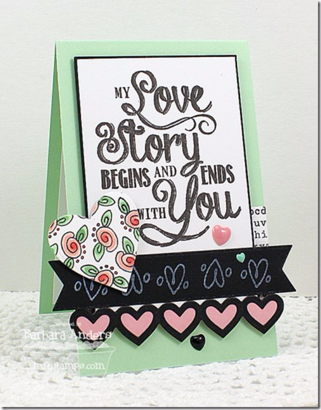 Cool DIY Valentines Day Cards - My Love Story Card - Easy Handmade Cards for Him and Her, Kids, Freinds and Teens - Funny, Romantic, Printable Ideas for Making A Unique Homemade Valentine Card - Step by Step Tutorials and Instructions for Making Cute Valentine's Day Gifts #valentines