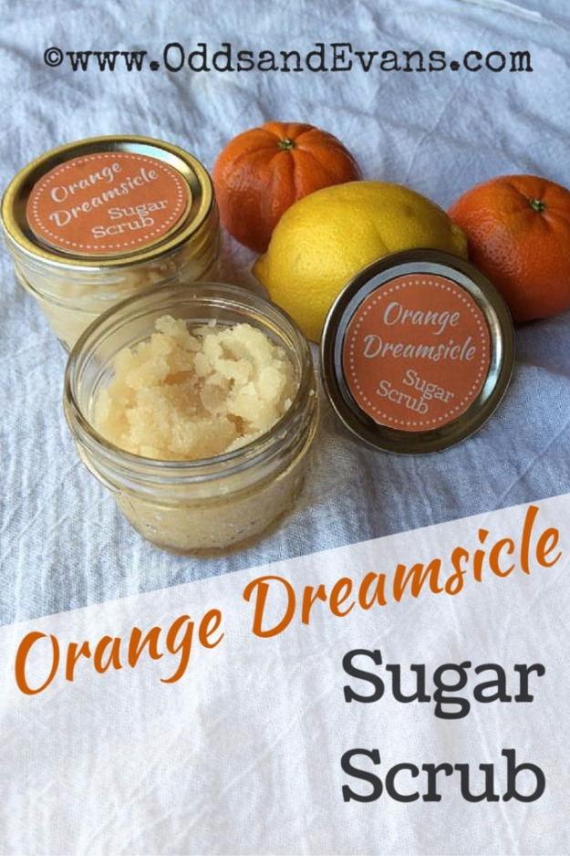DIY Sugar Scrub Recipes - Orange Dreamsicle Sugar Scrub - Easy and Quick Beauty Products You Can Make at Home - Cool and Cheap DIY Gift Ideas for Homemade Presents Women, Girls and Teens Love - Natural Recipe Ideas for Making Sugar Scrub With Step by Step Tutorials