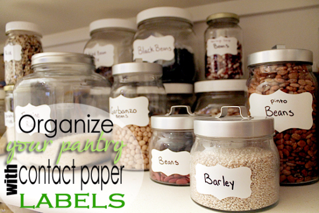 DIY Organizing Ideas for Kitchen - Organize Your Pantry With Glass Jars - Cheap and Easy Ways to Get Your Kitchen Organized - Dollar Tree Crafts, Space Saving Ideas - Pantry, Spice Rack, Drawers and Shelving - Home Decor Projects for Men and Women #diykitchen #organizing #diyideas #diy