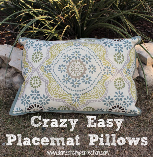 DIY Ideas for the Outdoors - Outdoor Pillows - Best Do It Yourself Ideas for Yard Projects, Camping, Patio and Spending Time in Garden and Outdoors - Step by Step Tutorials and Project Ideas for Backyard Fun, Cooking and Seating #diy