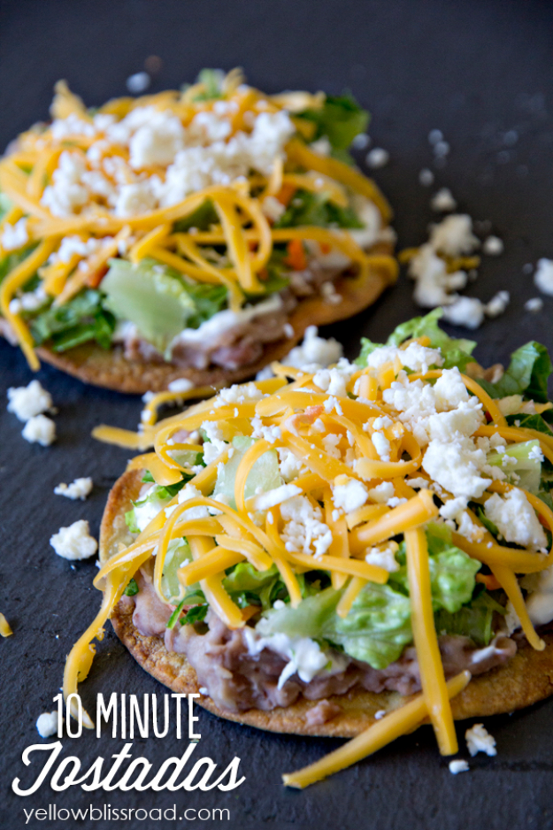 Healthy Lunch Ideas for Work - Oven Baked Tostadas - Quick and Easy Recipes You Can Pack for Lunches at the Office - Lowfat and Simple Ideas for Eating on the Job - Microwave, No Heat, Mason Jar Salads, Sandwiches, Wraps, Soups and Bowls